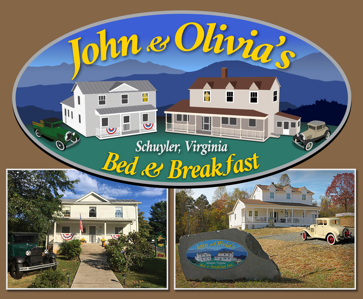 Book either the John & Olivia BnB or The Walton Hamner House