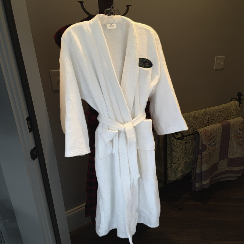 White Terrycloth Bathrobe