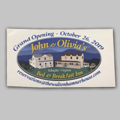 Fridge Magnet - John & Olivia's Grand Opening