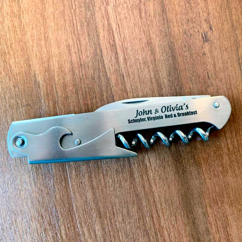 J&O Wine Opener Bottle Cap Opener with Knife