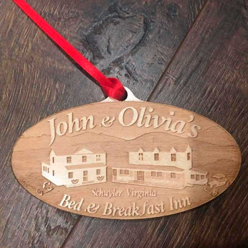 Wooden Ornament - JnO Logo